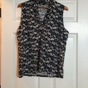 Anne Klein flower pattern sleeveless top